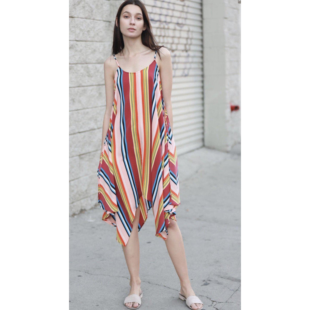 Tutti Fruitti Striped Dress-Womens-Eclectic-Boutique-Clothing-for-Women-Online-Hippie-Clothes-Shop