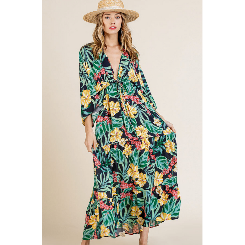 Tiki Time Maxi Dress-Womens-Eclectic-Boutique-Clothing-for-Women-Online-Hippie-Clothes-Shop