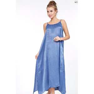Cornflower Blue Spaghetti Strap Dress-Womens-Eclectic-Boutique-Clothing-for-Women-Online-Hippie-Clothes-Shop