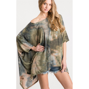 Smoky Mountain Tie Dye Poncho Tunic-Womens-Eclectic-Boutique-Clothing-for-Women-Online-Hippie-Clothes-Shop