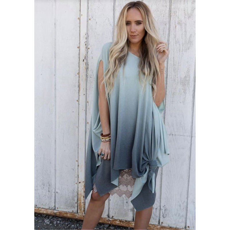 Stormy Weather Ombré Tie Dye Top-One size-Womens-Eclectic-Boutique-Clothing-for-Women-Online-Hippie-Clothes-Shop