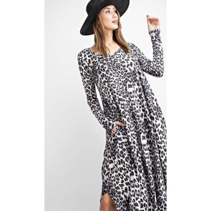 Zootopia black and white leopard maxi dress-Womens-Eclectic-Boutique-Clothing-for-Women-Online-Hippie-Clothes-Shop