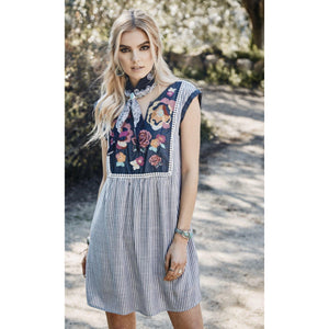 Denim and Roses Dress