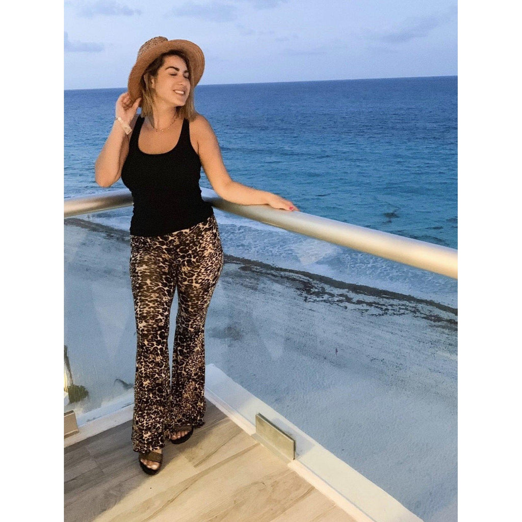 Queen of the Jungle Leopard Print Bell Bottoms-Womens-Eclectic-Boutique-Clothing-for-Women-Online-Hippie-Clothes-Shop