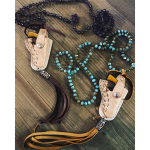 Gun Holster Necklace-Womens-Eclectic-Boutique-Clothing-for-Women-Online-Hippie-Clothes-Shop
