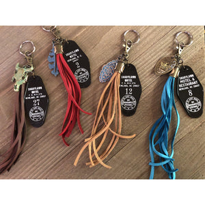 Tasseled Vintage Motel Key Chain-Womens-Eclectic-Boutique-Clothing-for-Women-Online-Hippie-Clothes-Shop