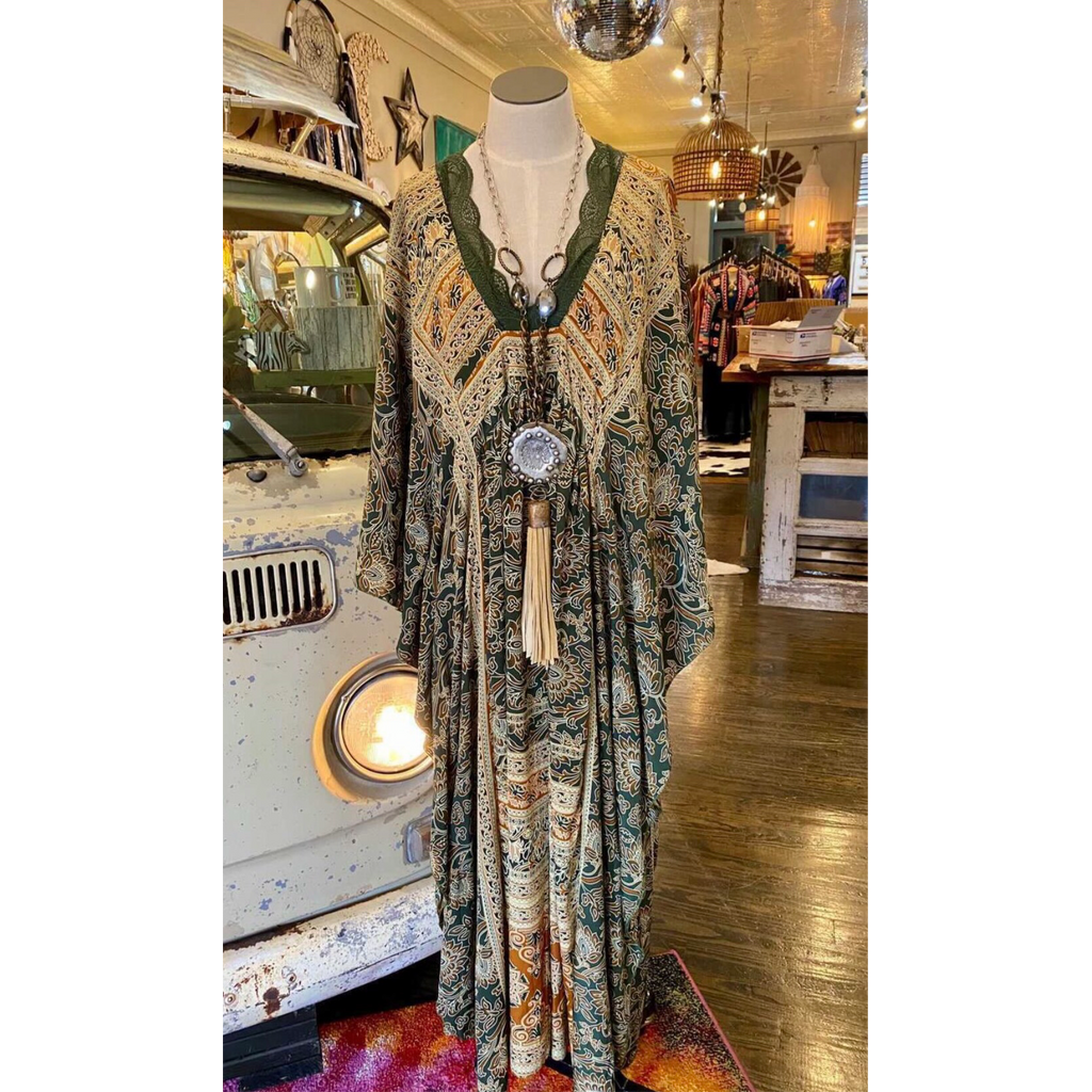 The Glamorous Life ~ Olive print-Womens-Eclectic-Boutique-Clothing-for-Women-Online-Hippie-Clothes-Shop