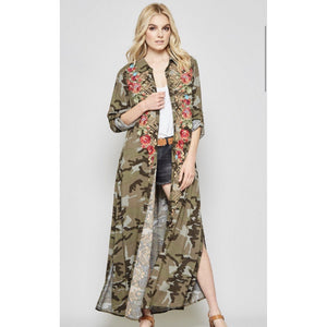 Camouflage Garden Duster/Dress-Womens-Eclectic-Boutique-Clothing-for-Women-Online-Hippie-Clothes-Shop