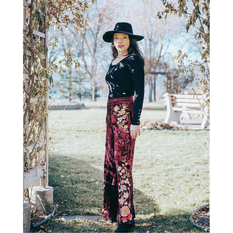 Bandera Wine Velvet Pants-Womens-Eclectic-Boutique-Clothing-for-Women-Online-Hippie-Clothes-Shop