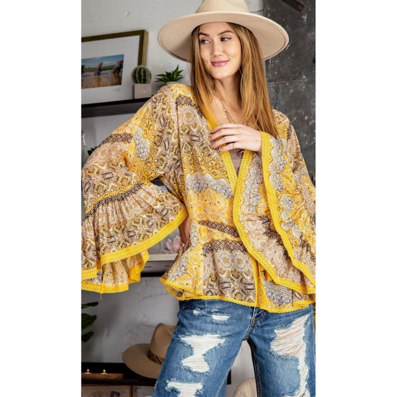 Darjeeling Express Bell Sleeve Jacket-Womens-Eclectic-Boutique-Clothing-for-Women-Online-Hippie-Clothes-Shop