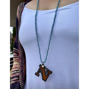 Rustic glamour initial necklace-Womens-Eclectic-Boutique-Clothing-for-Women-Online-Hippie-Clothes-Shop
