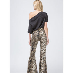 Queen of the Jungle Leopard Print Bell Bottoms