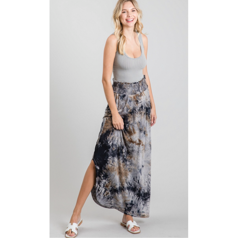 Midnight Express Tie Dye Maxi Skirt-Womens-Eclectic-Boutique-Clothing-for-Women-Online-Hippie-Clothes-Shop