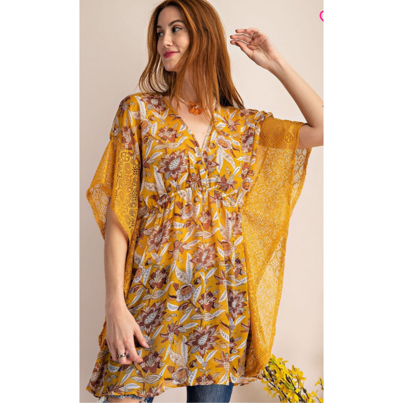 Gold Harvest Caftan-style Tunic-Womens-Eclectic-Boutique-Clothing-for-Women-Online-Hippie-Clothes-Shop