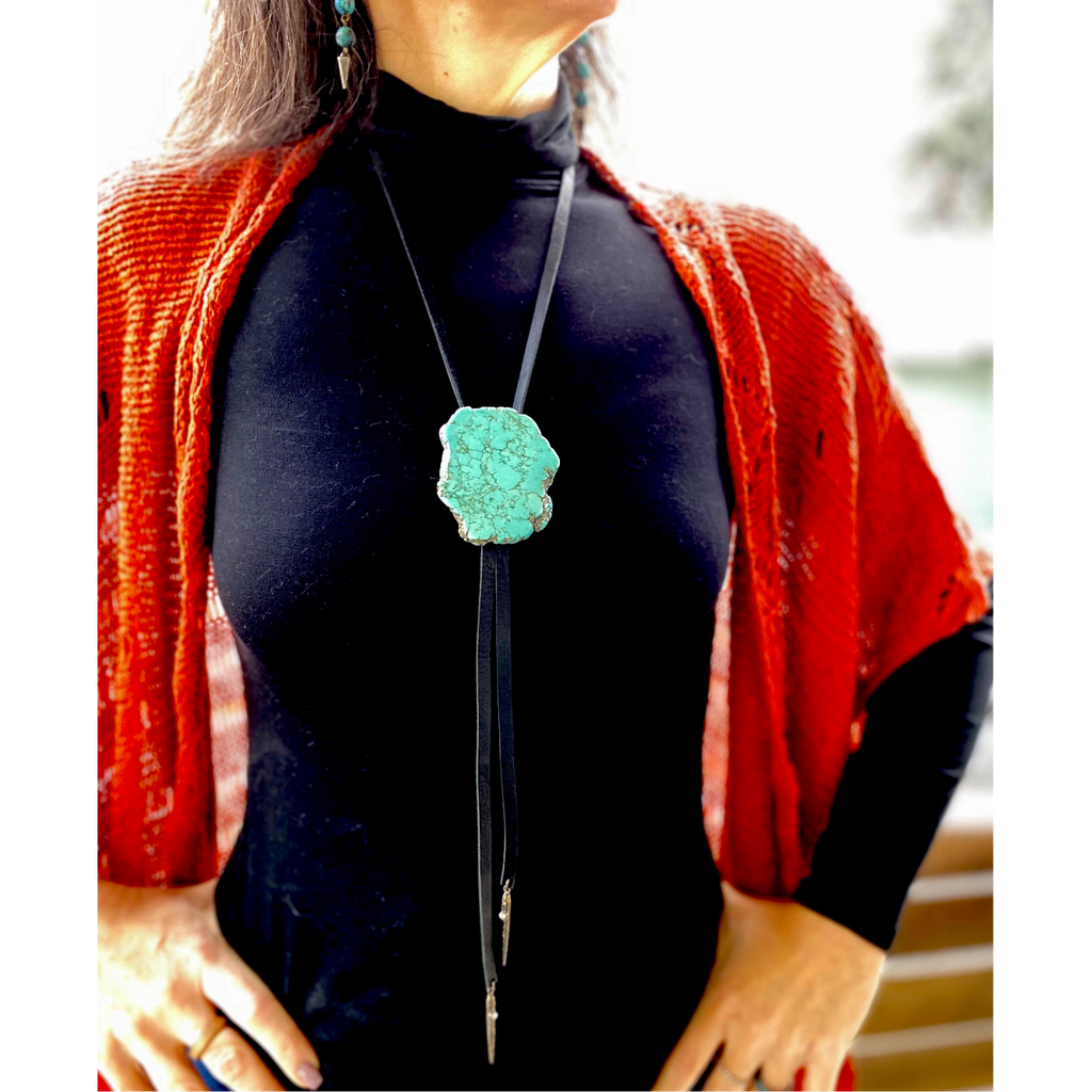 Turquoise slab bolo-Womens-Eclectic-Boutique-Clothing-for-Women-Online-Hippie-Clothes-Shop