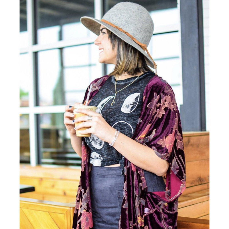 Vineyards velvet burnout kimono-Womens-Eclectic-Boutique-Clothing-for-Women-Online-Hippie-Clothes-Shop
