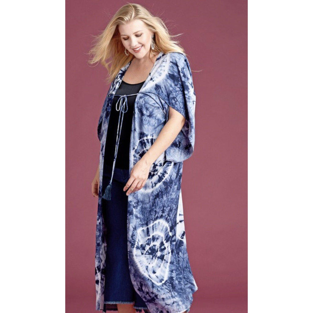 Hippie Haven Blue Tie Dye Duster