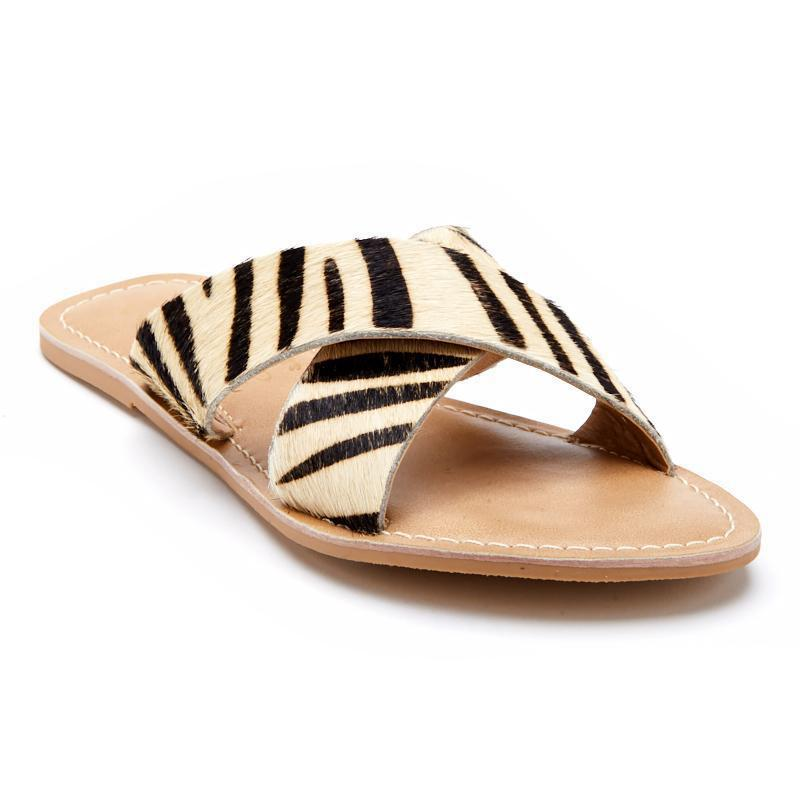 Matisse Pebble Sandal in Zebra-Womens-Eclectic-Boutique-Clothing-for-Women-Online-Hippie-Clothes-Shop