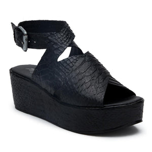 Runaway Wedge in Black Snake-Womens-Eclectic-Boutique-Clothing-for-Women-Online-Hippie-Clothes-Shop