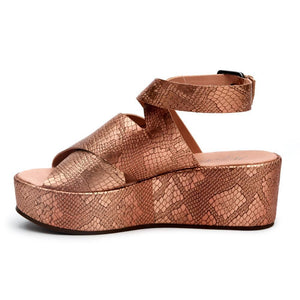 Runaway Wedge in Rose Gold Snake-Womens-Eclectic-Boutique-Clothing-for-Women-Online-Hippie-Clothes-Shop