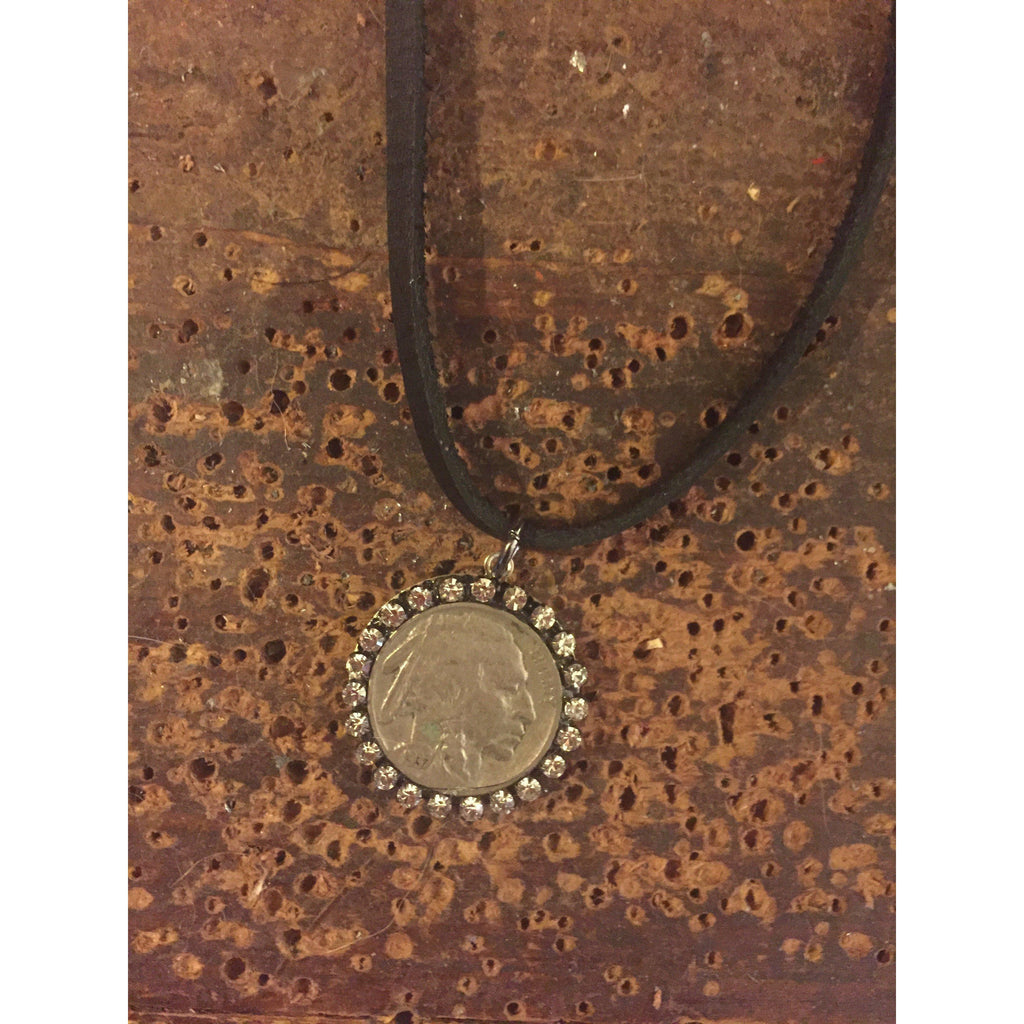 Be the Change Indianhead Leather Choker-Womens-Eclectic-Boutique-Clothing-for-Women-Online-Hippie-Clothes-Shop