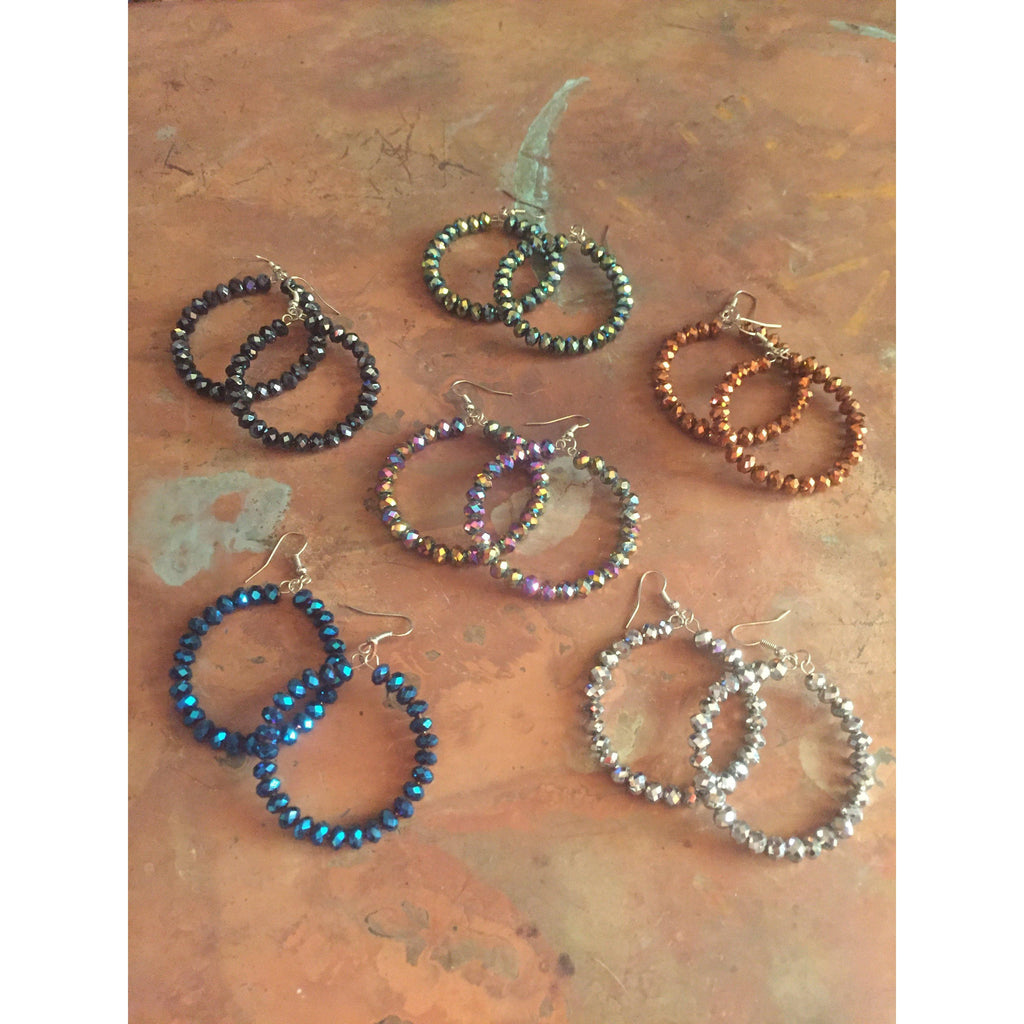 Sparkle Plenty Hoop Earrings-Womens-Eclectic-Boutique-Clothing-for-Women-Online-Hippie-Clothes-Shop
