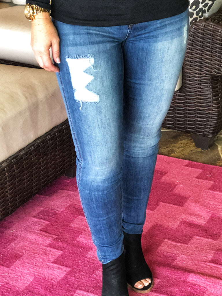 Distressed Washed Jeans