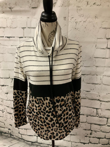 Stripped, Leopard Pullover