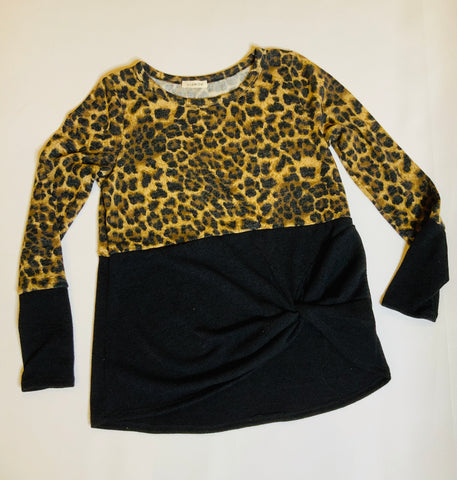 Black & Leopard Top