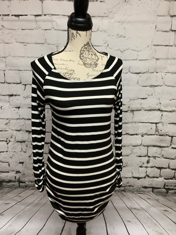 Black & White Knit Dress