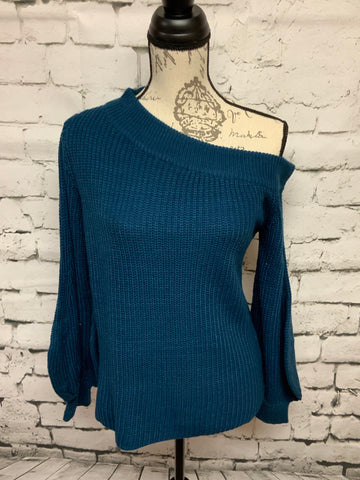 Super Cute / Off One Shoulder Teal Blue