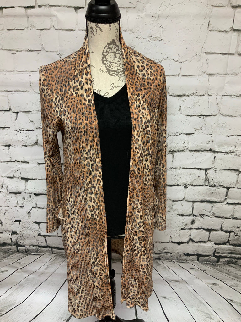 Leopard Light Weight Cardigan