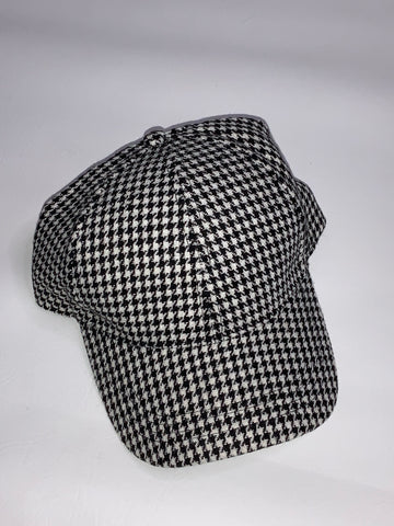 Hound Tooth Pattern Baseball Cap