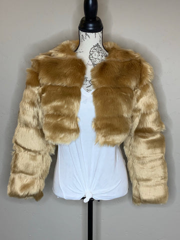 Cropped Boho Party Fur Coat