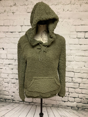 Fuzzy Pullover - Olive