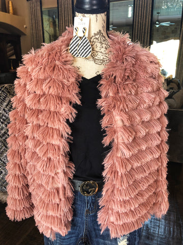 Furry Pink/Mauve Jacket