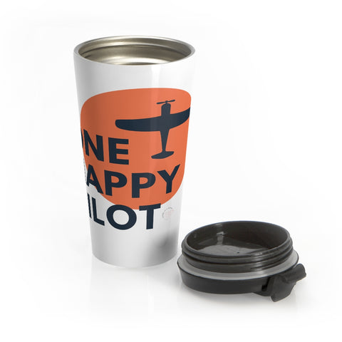 One Happy Pilot Stainless Steel Travel Mug