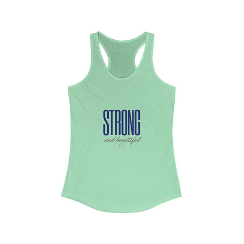 Strong and Beautiful Women's Ideal Racerback Tank