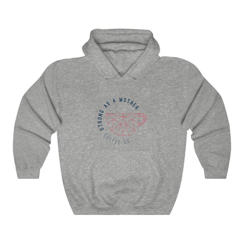 Strong as a Mother Logo Unisex Heavy Blend™ Hooded Sweatshirt