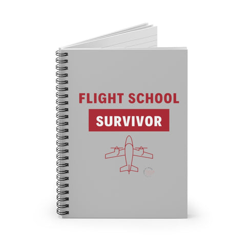 Flight School Survivor Spiral Notebook - Ruled Line