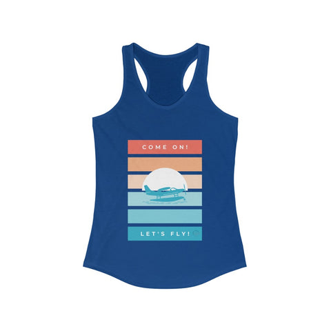 Let's Fly Women's Ideal Racerback Tank
