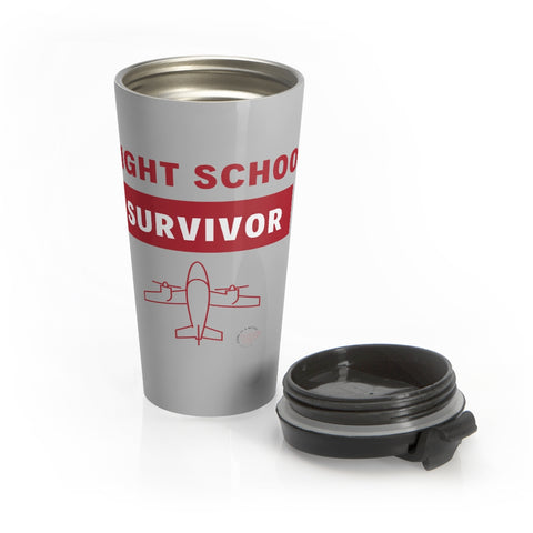 Flight School Survivor Stainless Steel Travel Mug