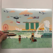 Load image into Gallery viewer, Singapore Scenes Reusable Sticker Pad
