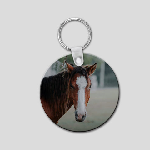 Round Photo Key Ring - double sided custom photo FREE SHIPPING