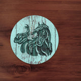 Engraved Horse with Name Mouse Pad and Coaster FREE SHIPPING