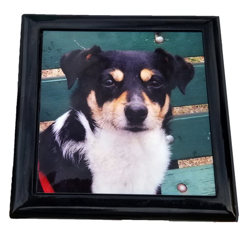 Black Lacquer Keepsake Box Photo Gloss Hinged Top Personalize