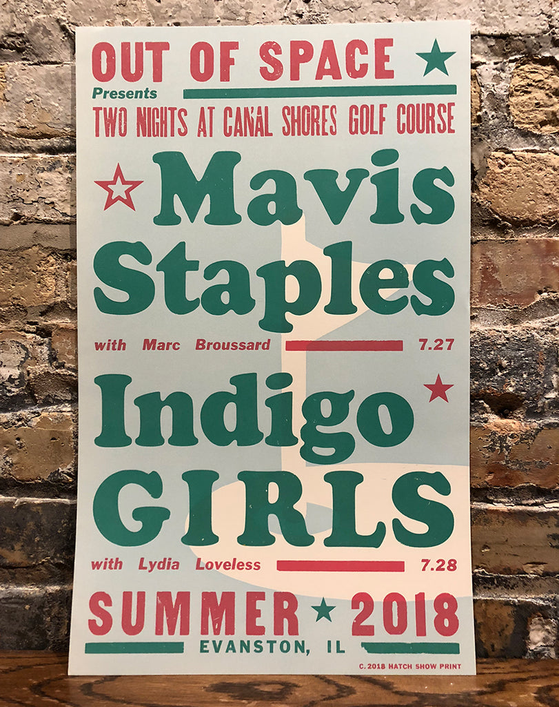 Mavis Staples & Indigo Girls Screenprint