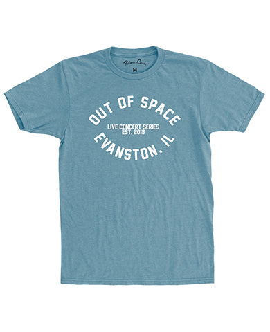 Out of Space Live Concert Series T-shirt: Light Blue