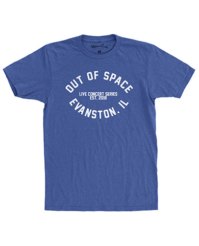 Out of Space Live Concert Series T-shirt: Electric Blue