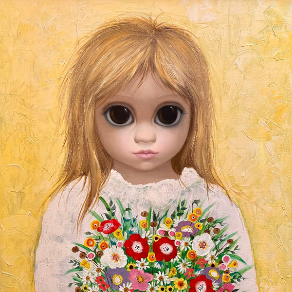 """The Last Bouquet"" A painting by Margaret Keane"